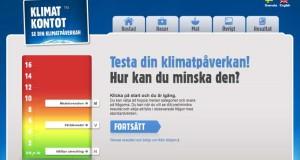 Testa din klimatpåverkan hos Klimatkontot!