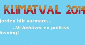 Pressmeddelande: Resultat av kampanjen KLIMATVAL 2014