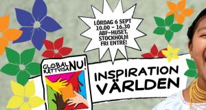 Inspiration världen, lördag 6 sept, 10.00 – 16.30, ABF-huset