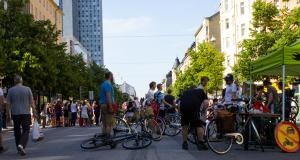 Många cyklar för bilfri innerstad