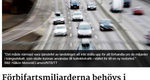 Förbifart Stockholm, debattartikel i ETC
