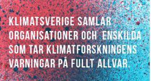 Nu sätter vi igång! Nätverket KlimatSverige bjuder in till stormöte 19 april