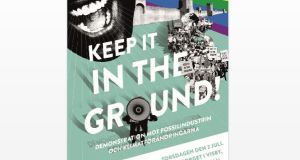 Keep it in the ground. Demonstration i Visby 2 juli
