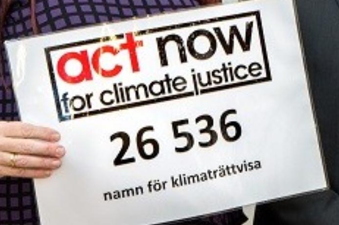 Klimaträttvisa på tapeten