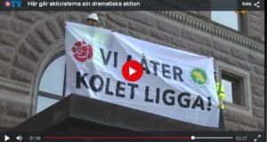 Aktion mot regeringskansliet Rosenbad