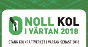 Namninsamling mot KOLKRAFTVERKET I VÄRTAN!