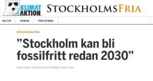 Stockholms klimatplan inte tillräckligt ambitiös, anser Klimataktion