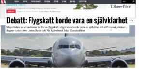 Klimataktion i Veckans Affärer: Flygskatt en självklarhet!