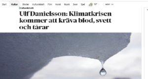 DN debatt. Björn Wiman och Ulf Danielsson, två sätt att förhålla sig till klimatförändringen.