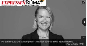 Pia Björstrand om Klimatlagen i Expressen