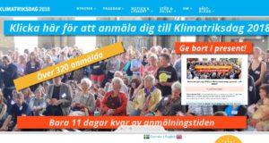 Klimatriksdagen, sprid infon och glöm inte anmäla före 22 april!!
