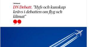 Fakta krävs i flygdebatten, skriver KTH- och Chalmersföreträdare