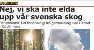 Debatt i Aftonbladet: Skydda skogen