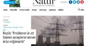 """Debatt:""""Problemet är att Svanen accepterar annan el än miljömärkt"""""""