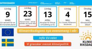 Klimatriksdagens vårsatsning: EU-valet och att följa upp den svenska klimatpolitiken.