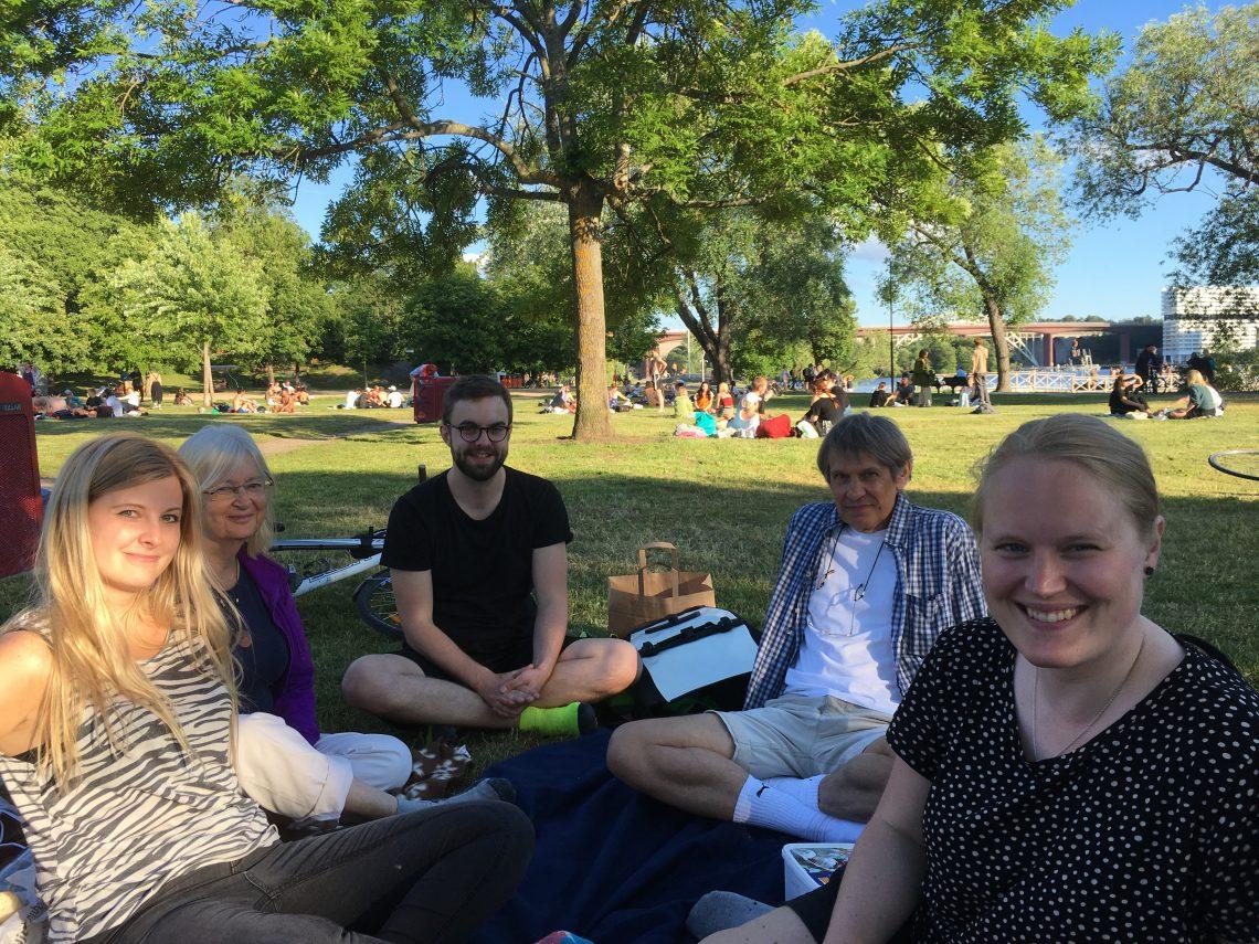 Klimataktion på picknick i Tanto