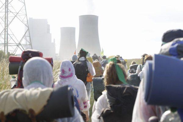Demonstration vid kolgruva