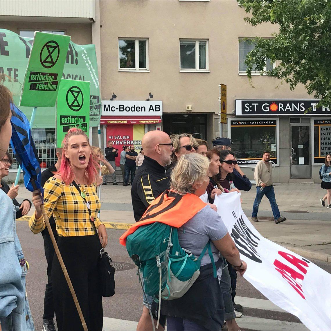 Demonstration vid Lindhagens plan