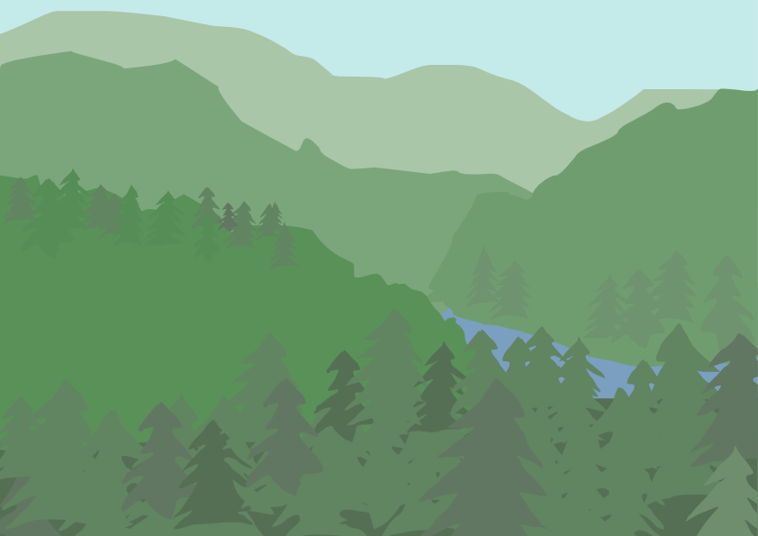 Illustrerad skog. Karin Wrete